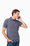 Young man on the cellphone Royalty Free Stock Image