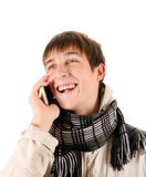 Young Man with Cellphone Royalty Free Stock Images