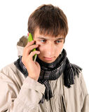 Young Man with Cellphone Stock Photos