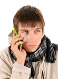 Young Man with Cellphone Stock Image