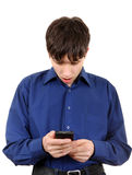 Young Man with Cellphone Stock Photography