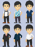 Young Man Character Set Royalty Free Stock Images