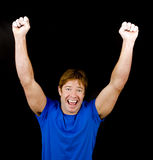 Young man cheering Royalty Free Stock Photo