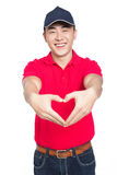 Young man. Chinese young man, white background Royalty Free Stock Photography