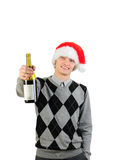 A young man after Christmas night Stock Images