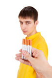 Young Man with a Cigarettes Royalty Free Stock Photography