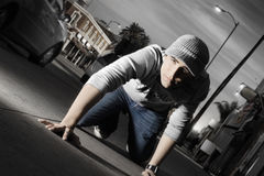 Young man in the city Stock Image