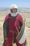 Young man clad as a Crusader Stock Photography