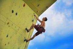 Young  man  climber Stock Images