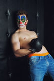 Young man in clown makeup Royalty Free Stock Photography