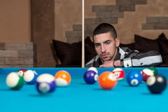 Young Man Concentration On Ball Royalty Free Stock Photography