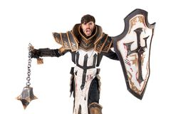 Man with knight costume Stock Photos