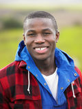 Young man in the country Stock Images