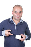 Young Man with credit card Stock Image