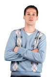 Young man cross hands Royalty Free Stock Photo