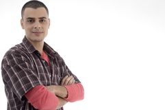 Young man with crossed arms Stock Photography