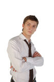 Young man with crossed arms Royalty Free Stock Photo