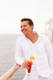 Young man cruise Stock Images
