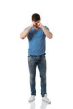 Young man crying. Royalty Free Stock Photography