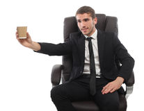 A young man with a cup of coffee Royalty Free Stock Photography