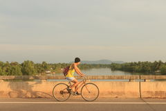 Young man cycling. Stock Photography