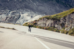 Young Man Cycling Royalty Free Stock Photo