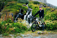 Young Man Cycling Royalty Free Stock Photography