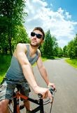 Young man cyclist Stock Photography