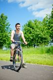 Young man cyclist Royalty Free Stock Images