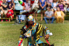 Native Young man dancer with full regalia-Stock photos Royalty Free Stock Image