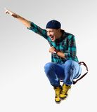 Young man dancer Royalty Free Stock Image