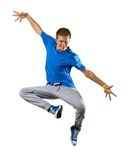 Young man dancer Stock Image