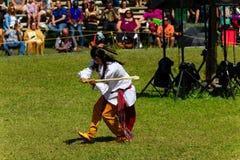 Native American Young man dancer at the 2017 Kahnawake Pow Wow-Stock photos Royalty Free Stock Photo