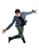 Young man dancing Royalty Free Stock Image