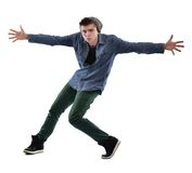 Young man dancing Stock Images