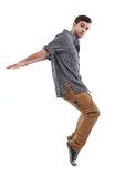 Young man dancing Stock Photography