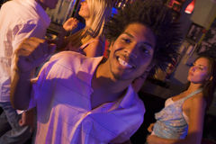 Young man dancing  Royalty Free Stock Image