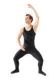 Young man dancing ballet isolated on white Royalty Free Stock Photography