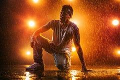 Young man dancing Stock Image