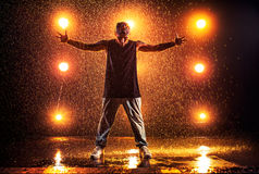 Young man dancing Royalty Free Stock Photography
