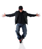 Young Man Dancing Hip Hop Style Stock Photos