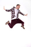 Young man dancing. Royalty Free Stock Image