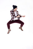 Young man dancing. Royalty Free Stock Photo