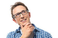 Young Man Daydreaming Stock Images