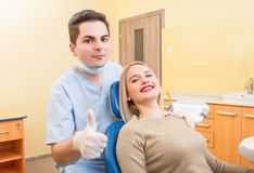 Young man dentist having confidence Stock Photography