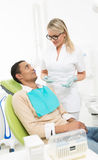 Young man at dentist's office Stock Photography