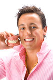 Young man with denture 2 Royalty Free Stock Photography