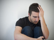 Young man depression Royalty Free Stock Images