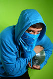 Young man with a discoball Stock Photo