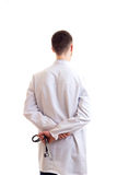 Young man in doctor gown Royalty Free Stock Photography